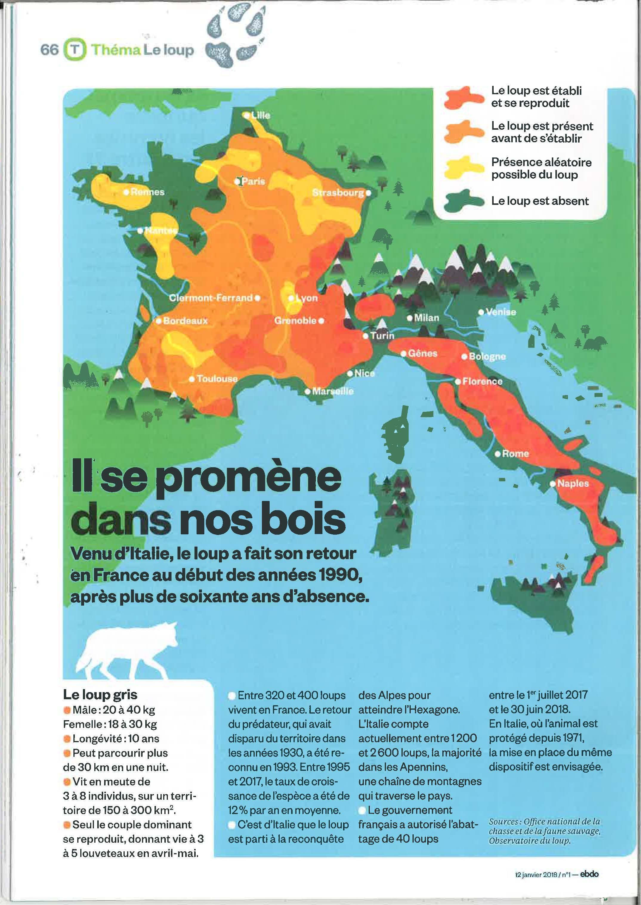 carte presence des loups en france Le retour du loup en Bretagne: fantasme ou réalité?   Faune Sauvage